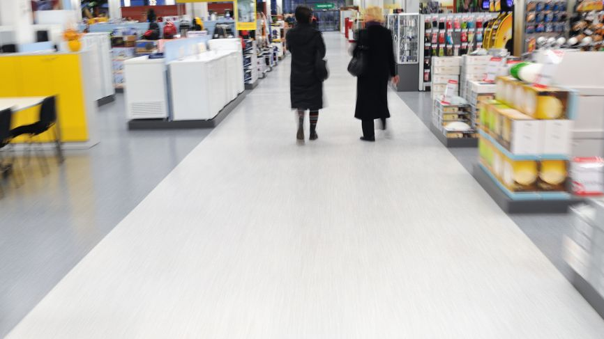 Floor installation for food retailer